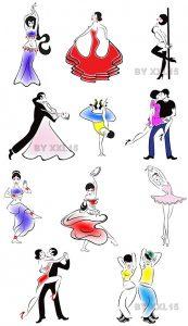 Картинки танцы нарисованные 006