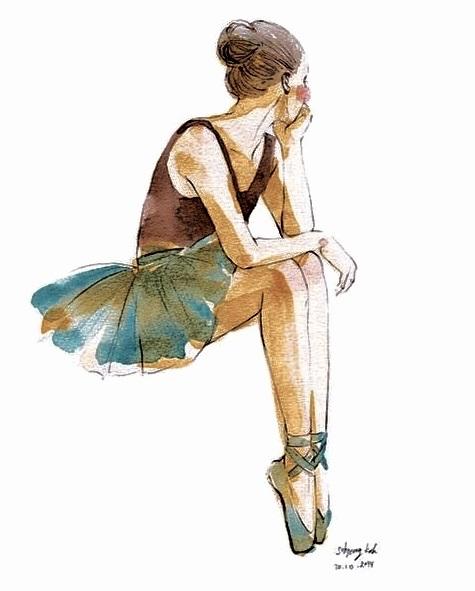 Картинки танцы нарисованные 010