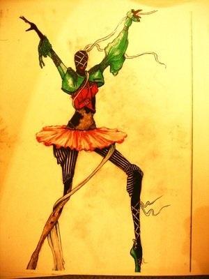 Картинки танцы нарисованные 015
