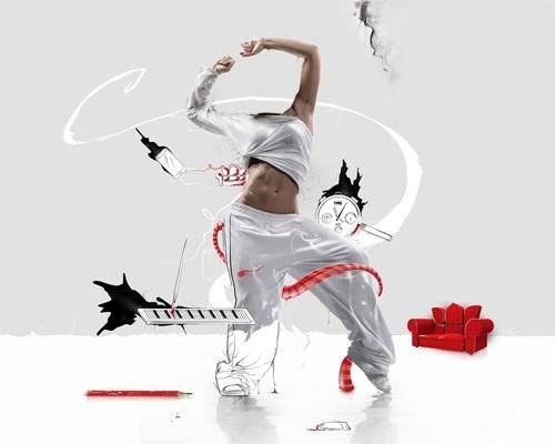 Картинки танцы нарисованные 016