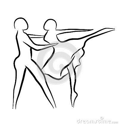 Картинки танцы нарисованные 019