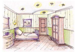 Квартира вид сверху рисунки и картинки (19)