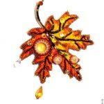 Кленовый лист брошь — фото