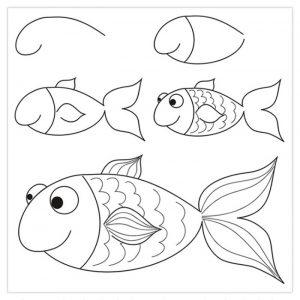 Красивые рисунки карандашом поэтапно для детей 12 лет 005