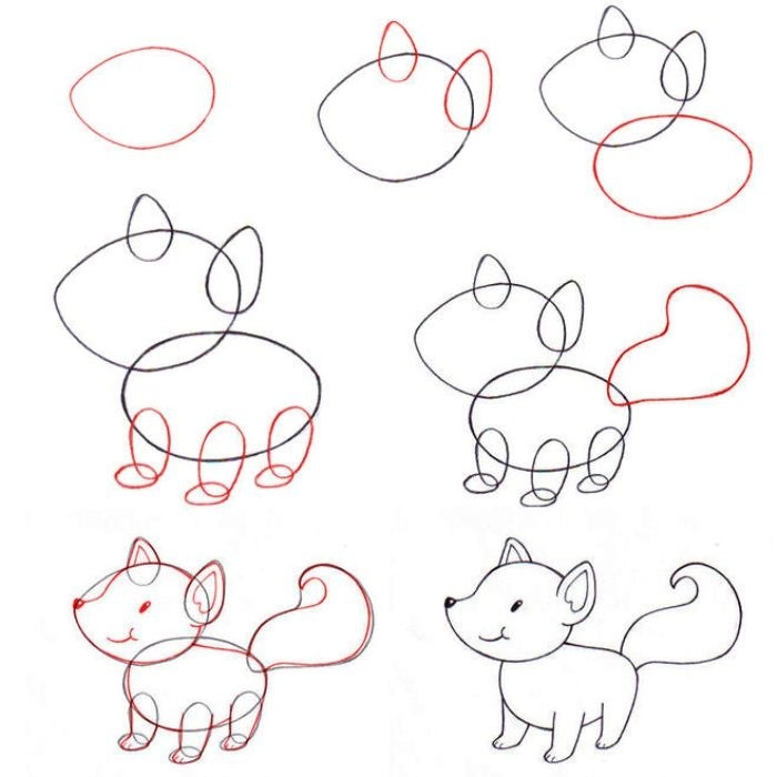 Красивые рисунки карандашом поэтапно для детей 12 лет 006