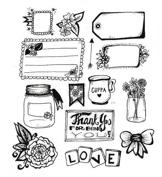 картинки для ежедневника распечатать черно белые красивые