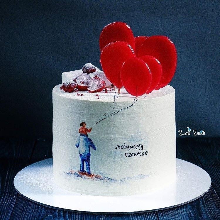 Красивый кремовый торт для папы 001