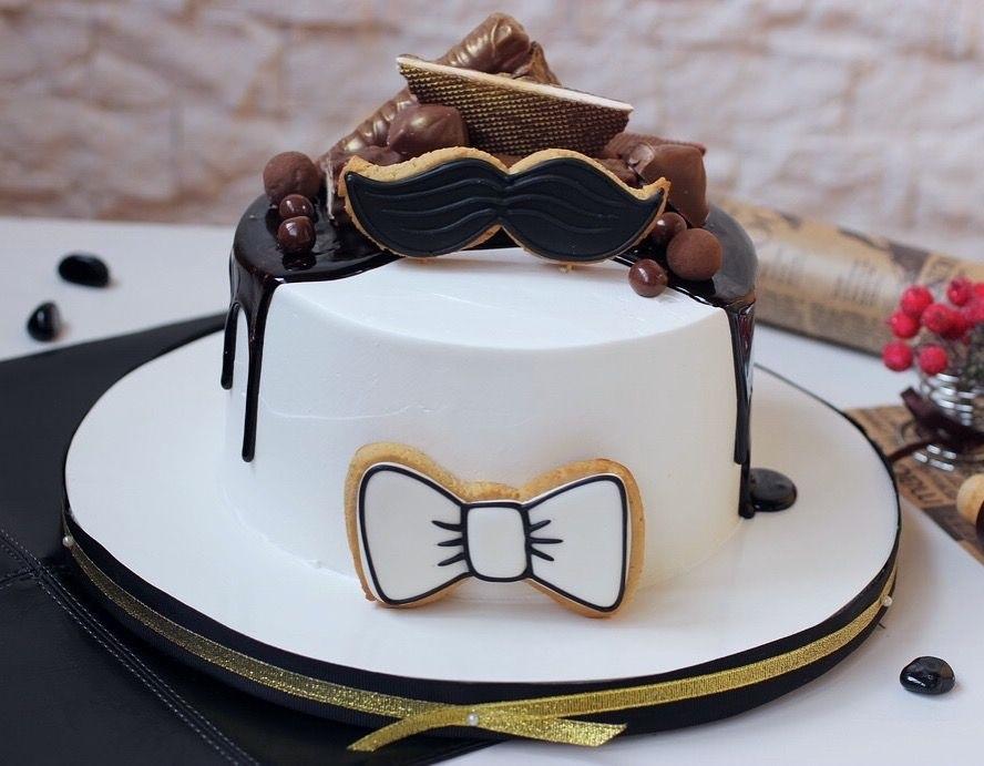 Красивый кремовый торт для папы 004