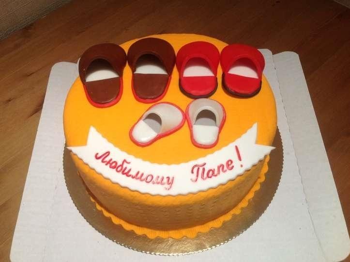 Красивый кремовый торт для папы 013