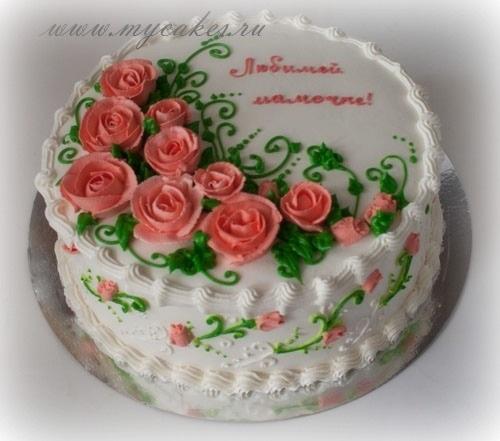 Красивый кремовый торт для папы 014