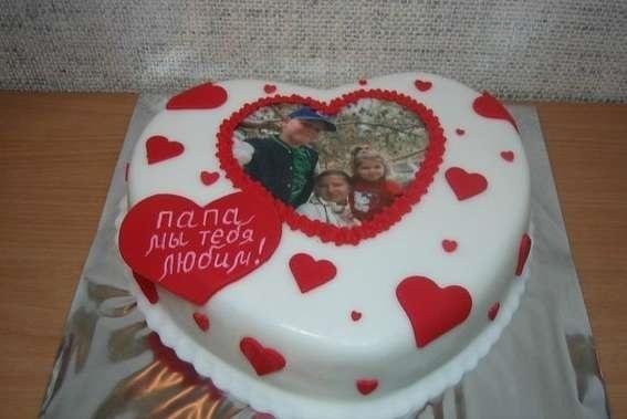 Красивый кремовый торт для папы 018