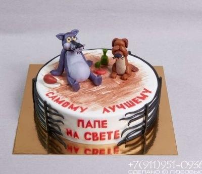 Красивый кремовый торт для папы 021