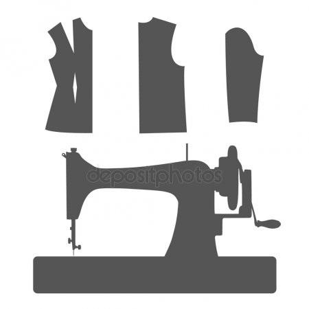 Красивый рисунок швейной машинки 004