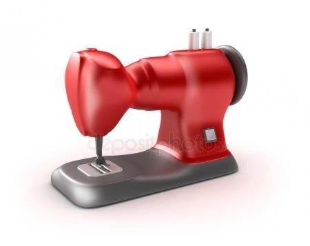 Красивый рисунок швейной машинки 005