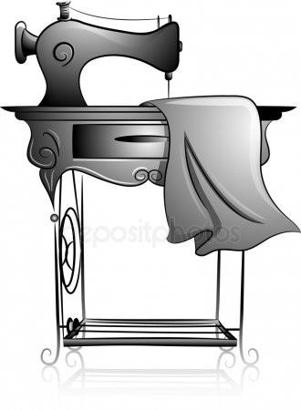 Красивый рисунок швейной машинки 006