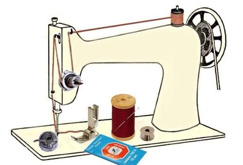 Красивый рисунок швейной машинки 007