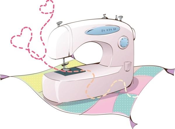 Красивый рисунок швейной машинки 009