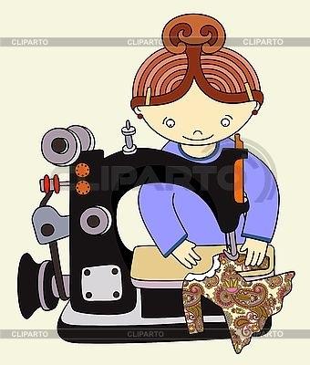 Красивый рисунок швейной машинки 010