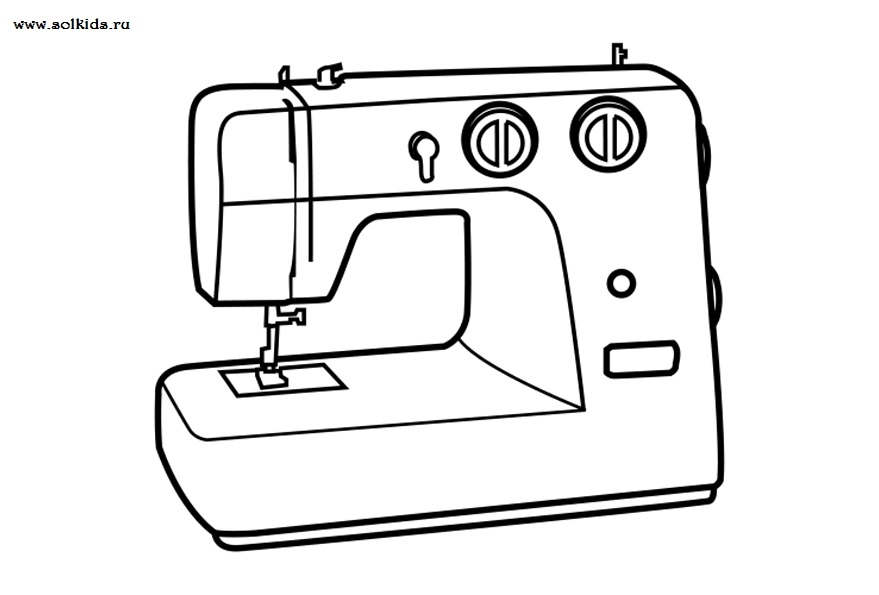 Красивый рисунок швейной машинки 011
