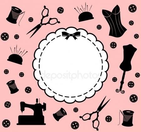 Красивый рисунок швейной машинки 012