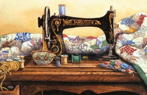 Красивый рисунок швейной машинки 017