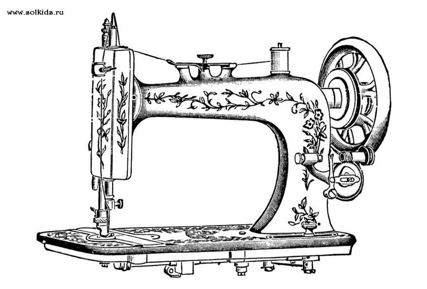 Красивый рисунок швейной машинки 018