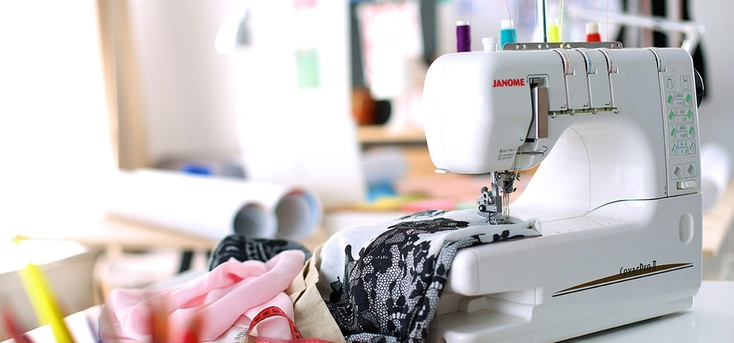 Красивый рисунок швейной машинки 021