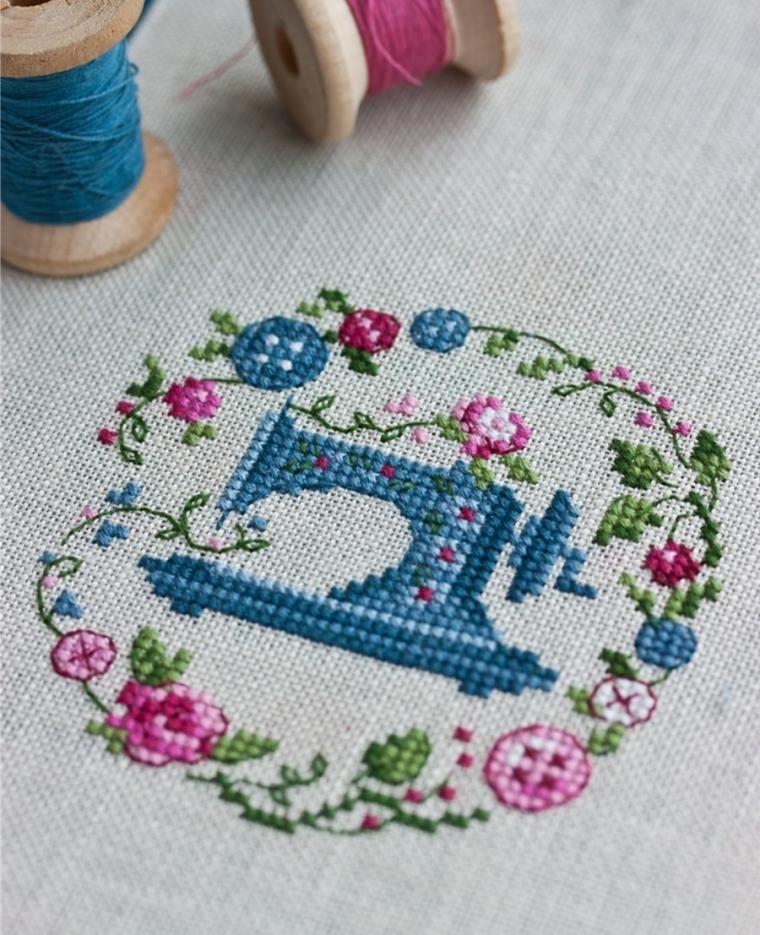 Красивый рисунок швейной машинки 024