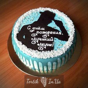Кремовый торт папе на день рождения 010