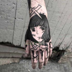 Крутая татуировка аниме 018