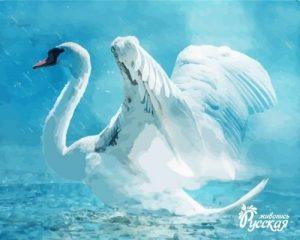Лебедь картина 020