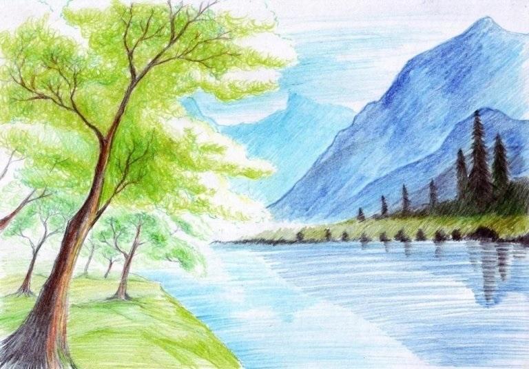 Легкие рисунки на природе 004