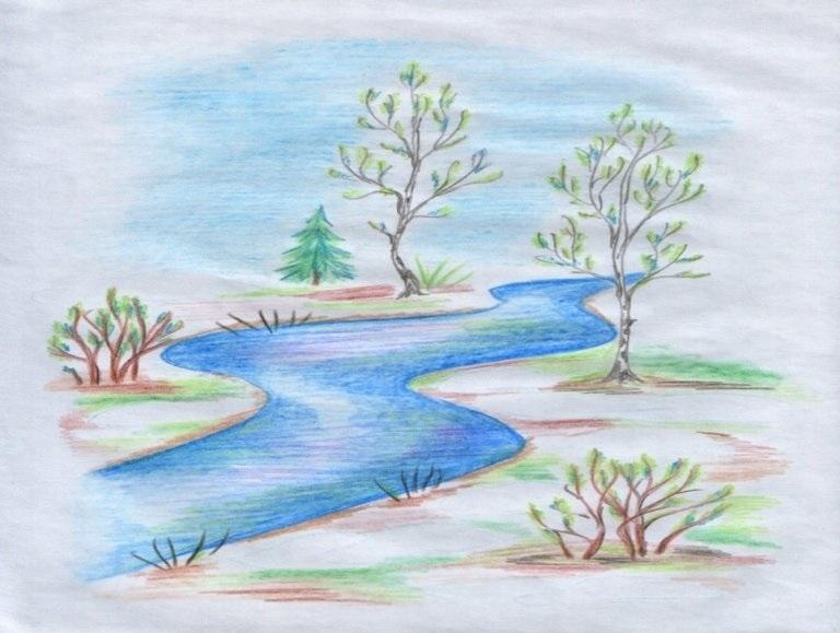 Легкие рисунки на природе 008