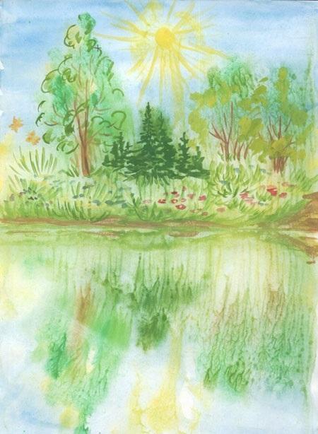 Легкие рисунки на природе 010