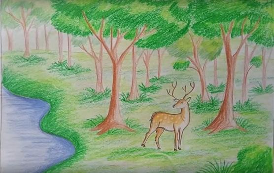Легкие рисунки на природе 011