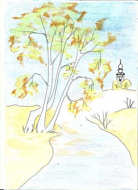 Легкие рисунки на природе 012