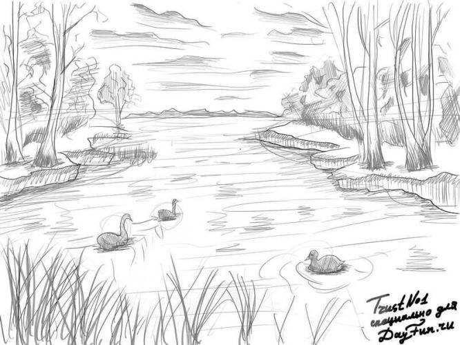 Легкие рисунки на природе 014