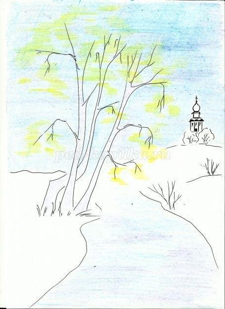 Легкие рисунки на природе 021
