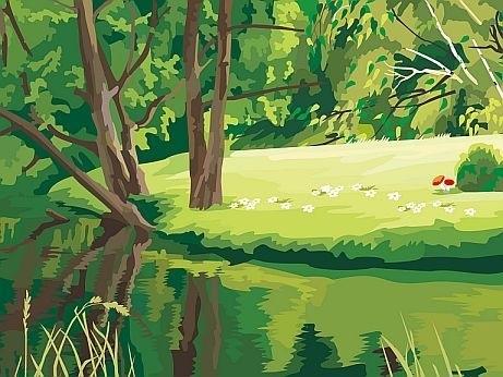 Легкие рисунки на природе 022