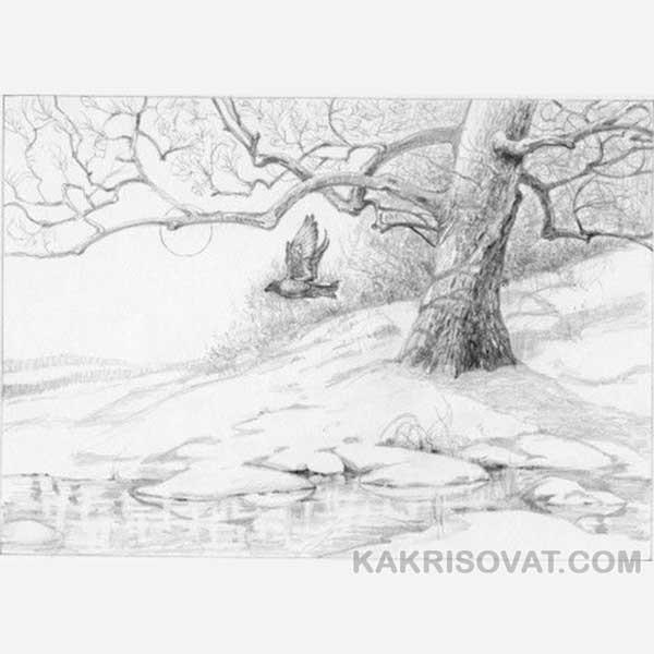 Легкие рисунки на природе 023
