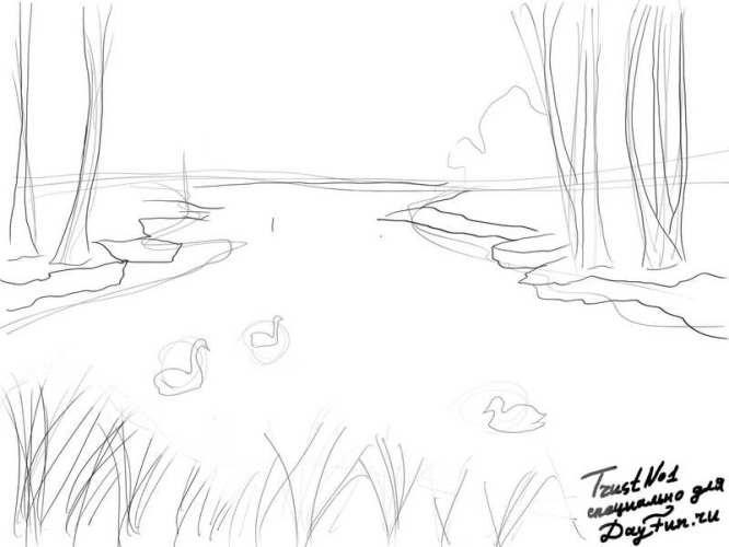 Легкие рисунки на природе 024