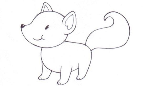 Лиса карандашом картинки для детей 001