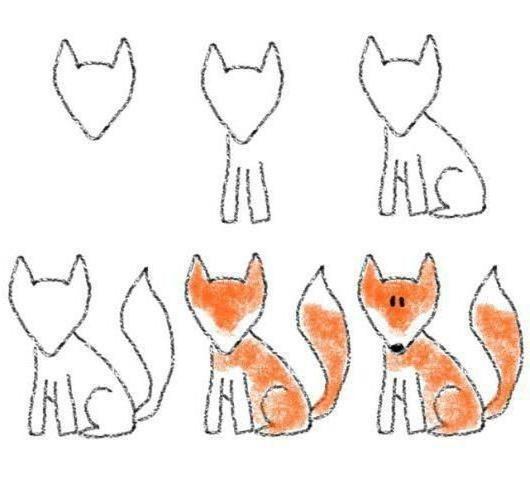 Лиса карандашом картинки для детей 009
