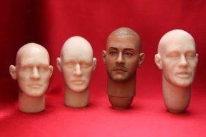 Лицо из полимерной глины 005