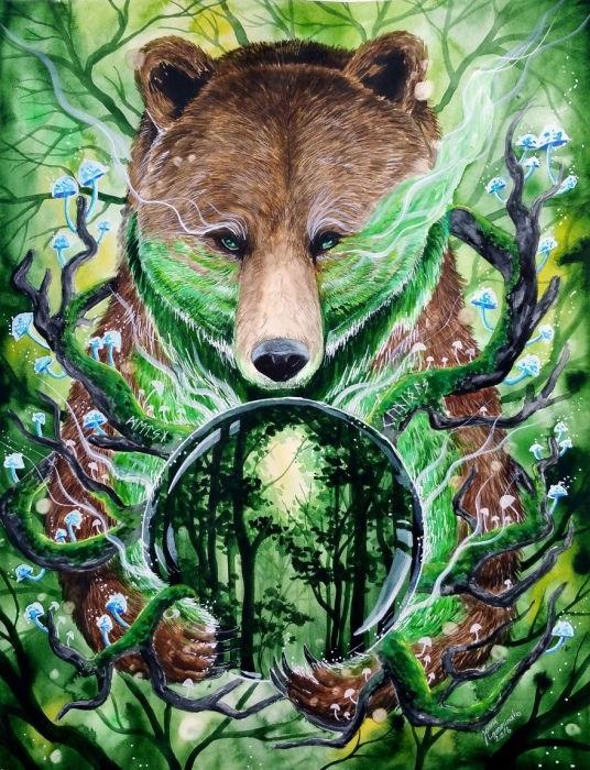Медведь красивые арты 001
