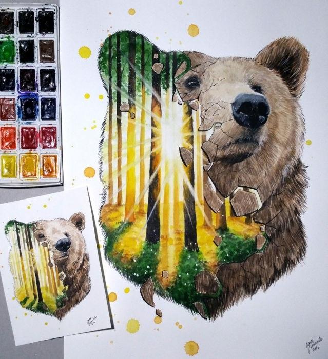 Медведь красивые арты 006