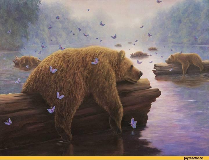 Медведь красивые арты 016