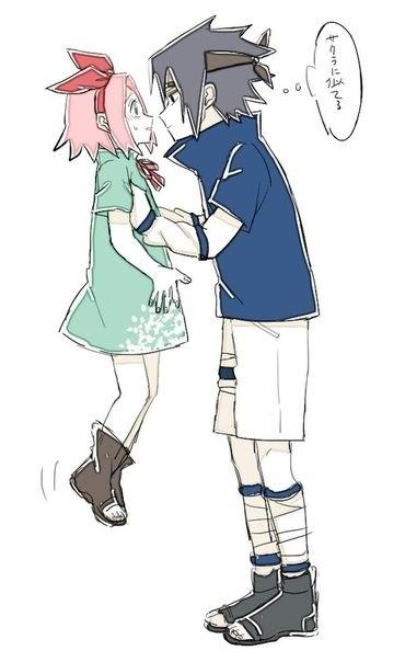 Милые аниме картинки хината и саске 001