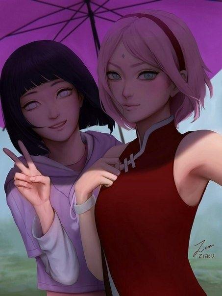 Милые аниме картинки хината и саске 009