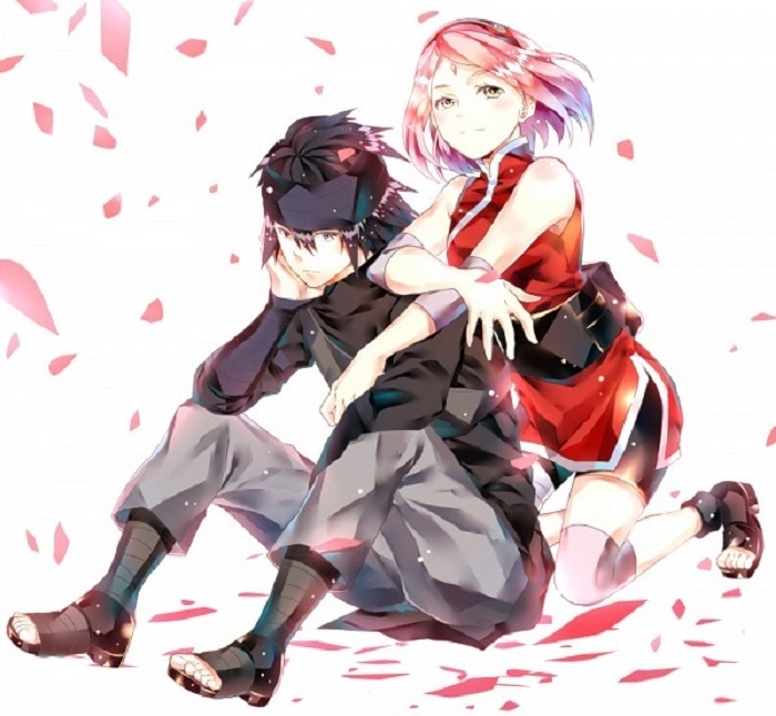 Милые аниме картинки Хината и Саске